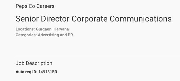 Poonam Kaul quits PepsiCo India, firm advertises for PR