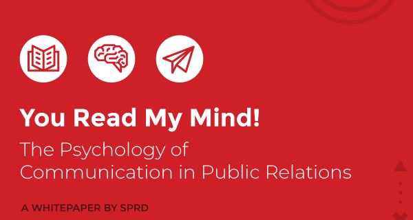 PR firm SPRD's white paper discusses psychology of crisis management, communication in PR
